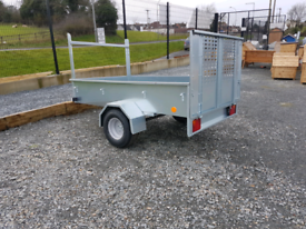 New 7x4ft Quad & ride on lawnmower moving trailer with rear ramp door