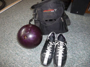 Men's bowling ball, bowling shoes