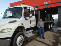 Flatbed Truck with Moffett required