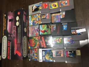 Nintendo NES Action Set in Box w/ Lots of Games