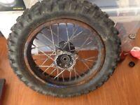 Pit bike wheel 12 inch