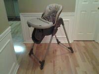 "1 – GRACO ""CONTEMPO"" ADJUSTABLE HIGHCHAIR."