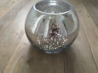 10 x Silver Mercury Glass Fish Bowl Wedding Table Centrepieces