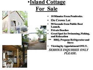 Island Cottage on Crown Land for Sale