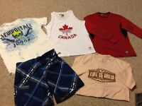 Men's Lot of Clothing: 4 Shirts & Swim Shorts