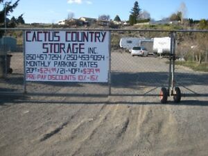 Gated RV / Boat / Vehicle Storage in Ashcroft B.C.