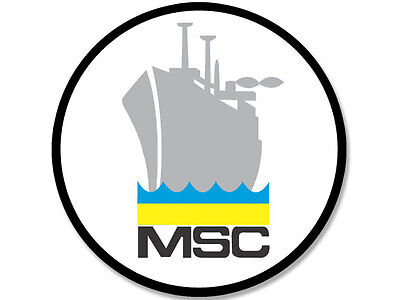 Military Sealift Command Ships - 4x4 inch Round MSC Military Sealift Command GRAY SHIP Seal Sticker - decal naval