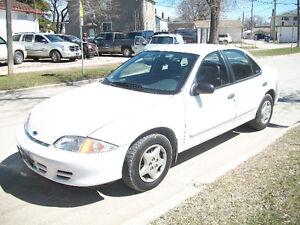 2002 Chevrolet Cavalier 4 door Automatic Safetied