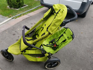 Green Phil and Teds Sport - 2 Child Stroller