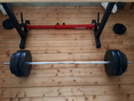5ft spinlock standard barbell with plates