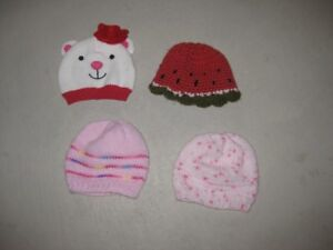 4 Infant Winter Hats - $10.00 obo