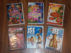 DVD BARBIE / MONSTER HIGH ET ICE AGE  *à partir de $3*