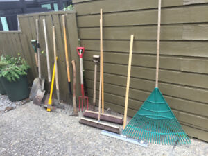 Rake shovel pitch fork pike brooms squeege chain vplus many more