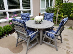 Custom Built Patio Table & Chairs