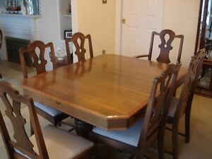 7 PC. Dining table & chairs