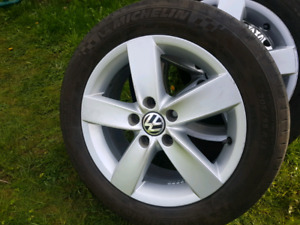 "16"" VW wheels with Michelin pilot tires"