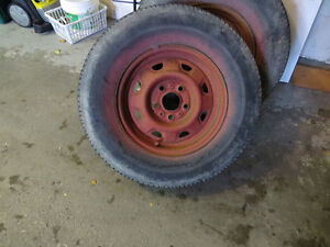 3 - 14 inch Rims - P205/75R14 Tires