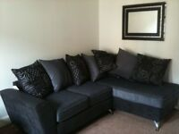 Black and Grey SCS Corner Couch