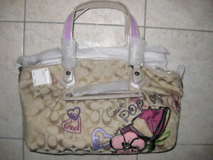Authentic COACH handbag NEW with tags.. FLOWERS print