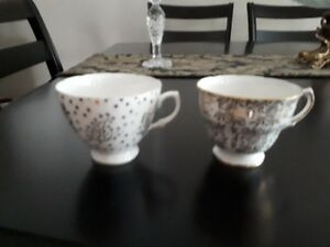 Odd China Cups, Saucers and plates