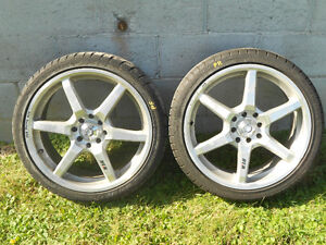 "17"" 4 bolt civic rims and rubber"