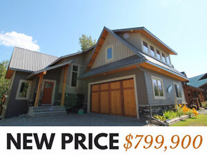 NEW PRICE! Spectacular Modern Mountain Home in Fernie BC