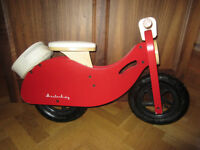Red Wooden Pedal-free Scooter Balance Bike
