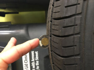 2 Used Goodyear Eagle LS2 All Season Tires Approx 70% tread left