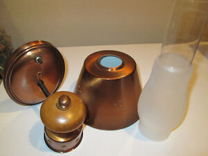 2 beautiful copper wall lamps