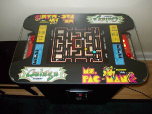 NEW! RETRO COCKTAIL ARCADE MACHINE MS PACMAN, GALAGA, FROGGER +