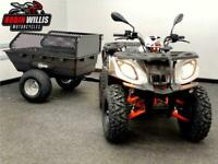STOMP RAGING BULL 200 FARM QUAD OFF ROAD WITH TOW BAR AND TRAILER