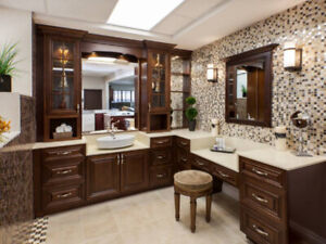HURRY!Walnut solid wood maple Vanity & Kitchen on Clearance!