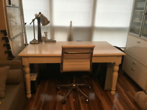 Pottery Barn Desk (white with storage)