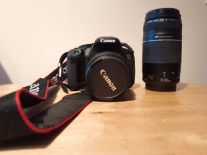 Canon EOS Rebel T4i Camera with (18 - 55mm, 75 - 300mm) lenses