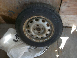 4 used winter tires on rims 175-70R13