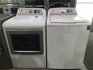 "GE 27"" Gas /Electric Dryer & Top Loader Washer $899 as tor*"