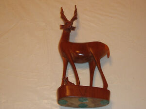 Hand Carved Solid Wood Antelope West Island Greater Montréal image 1
