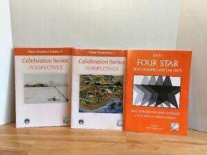 Celebration Piano Rep. 1 & Piano Studies 1 & FOUR STAR book 1