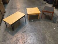 Selection of small tables