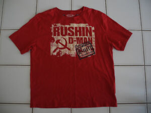Men's Red GONGSHOW T-Shirt RUSHIN D-MAN END 2 END - SIZE XL