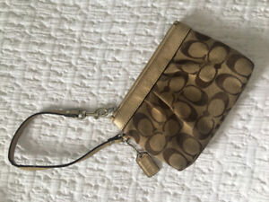 Authentic coach wristlet purse