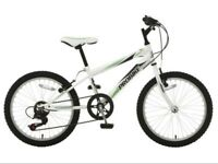 Boys/mans white mountain bike 18in frame