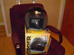 XXL Motorcycle Helmet VCAN half shell with visor used only once.