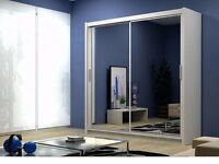 !!!UP TO 70% OFF !!!Full Mirror Sliding wardrobe size 120/150/180/203/250cm and 5 Attractive COLORs