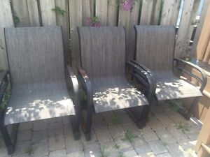 3 outdoor chairs