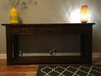 Solid antique hardwood sideboard