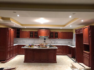 Custom made kitchen set and walk in closet