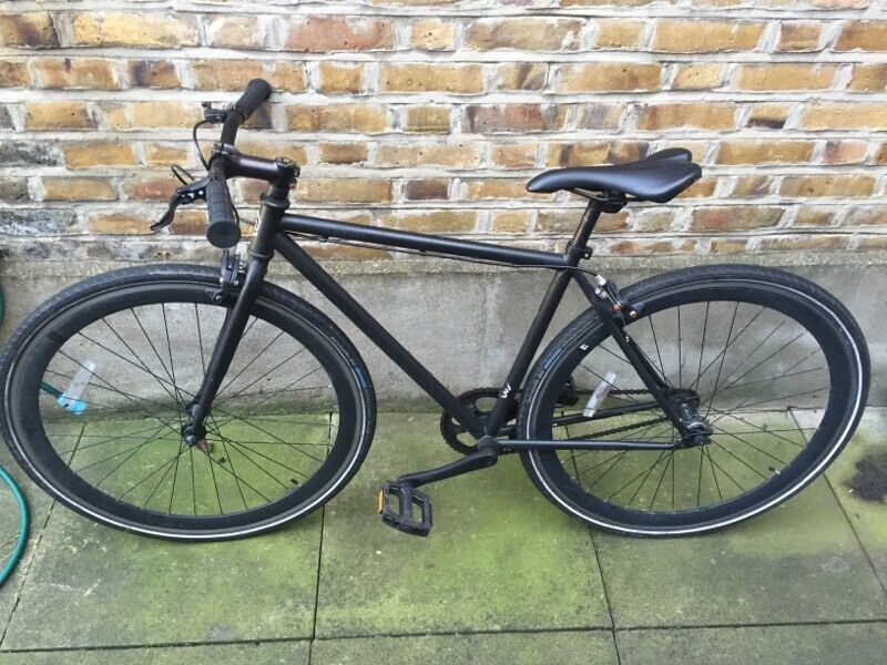 Neco Sku Bikes Single Gear Fixie Speed Bike In Matte Black In