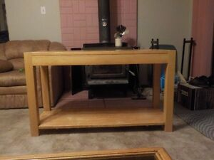 Solid wood stand for large TV