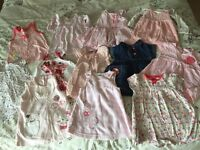 Baby girl 12 x dresses 0-3 months